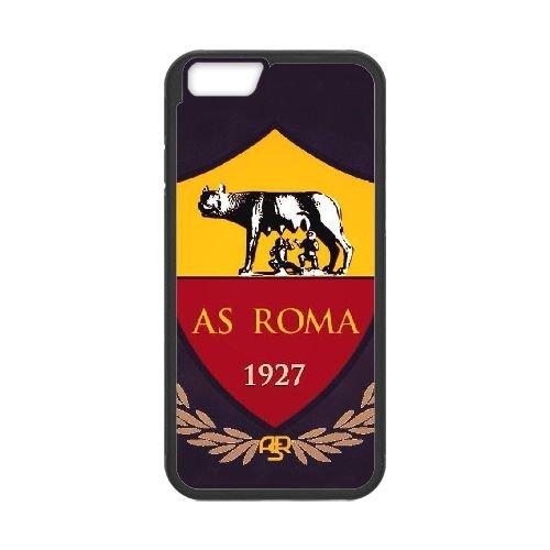 As Roma Logo coque iPhone 6 4.7 Inch Housse téléphone Noir de couverture de cas coque EBDOBCKCO17549