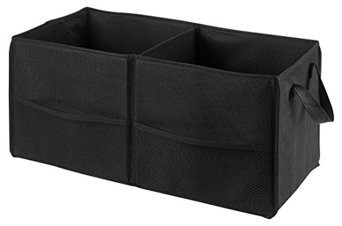 Fold Away Car Trunk Organizer, Black - 22