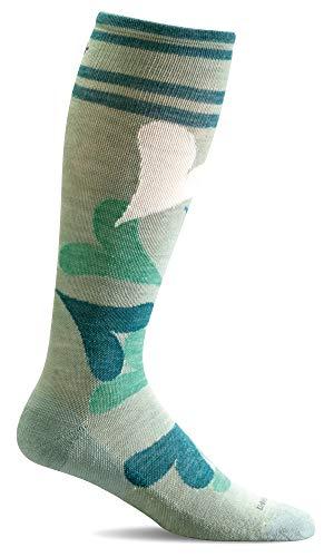 Sockwell Women's Love Lots Moderate Compression Socks (Celadon, M/L)