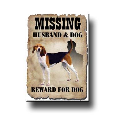 Treeing Walker Coonhound Husband Missing Fridge Magnet No 1