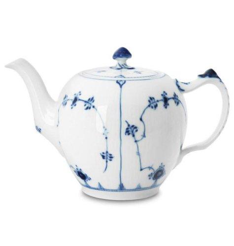 Royal Copenhagen Blue Fluted Teapot 32 oz.