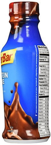PowerBar 30g Protein Shake, Chocolate, 14 fl oz Bottle, (12 Count)