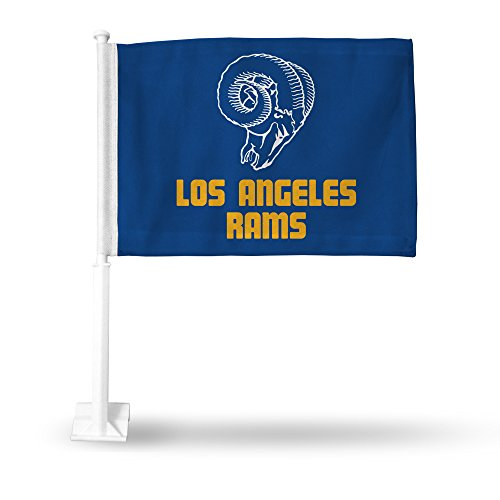 (NFL Los Angeles Rams Car Flag, Blue, with White)