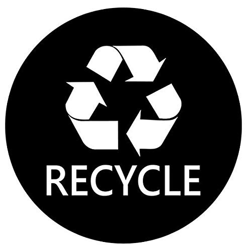 Recycle Sign for Trash Can Bin - Sticker Graphic - Auto, Wall, Laptop, Cell, Truck Sticker for Windows, Cars, -