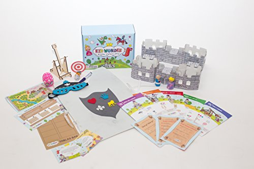 Kid Wonder STEM Kits For Kids w/ 5 Medieval Times Projects - Medieval Times STEAM Science Craft & Scientific Learning Challenges - Boy & Girl (Ages 3-6) Educational Interactive Toys