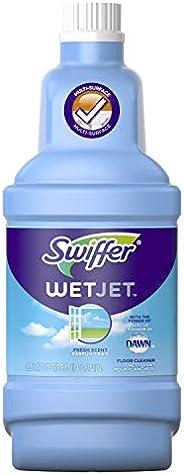 Swiffer WetJet All Purpose Floor Cleaner Solution, Liquid Refill Bottle, Open Window Fresh Scent, 1;25 L