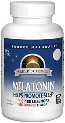 Source Naturals Melatonin 1mg, Orange, 100 Tablets