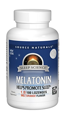 Source Naturals Melatonin 1mg, Orange, 100 Tablets