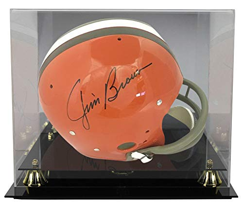 Jim Brown Autographed Signed Cleveland Browns Full Size TK Helmet JSA With Deluxe Football Helmet Display Case ()