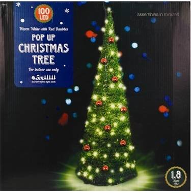 Artificial Pop-up Christmas Tree - 180cm, Green: Amazon.co.uk ...