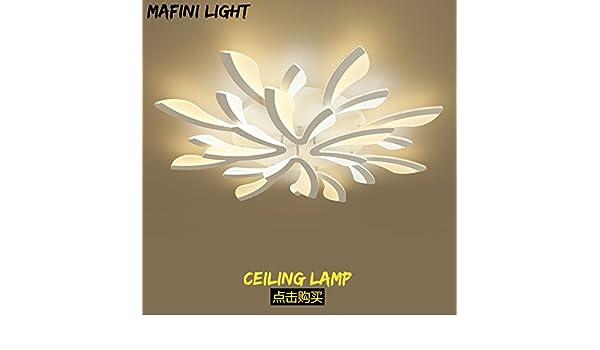 Lemumu Minimalist Living Room Light Lamps Light Warm Romantic Bedroom Lighting  LED The Restaurant Room 12 Ceiling Light And Color Are White, Mono Is  White, ...