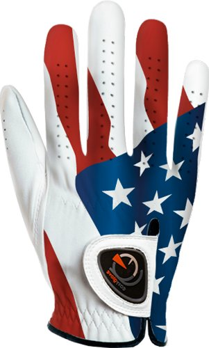 easyglove FLAG_USA-2-M-R Men's Golf Glove (White), XX-Large, Worn on Right Hand (Right Center Hand)