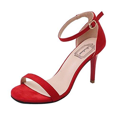 E Eleganti Medio Partito Donne Tacco Beautyjourney Donna Estivi Blocco Sexy Moda Scarpe Plateau Rosso Alti Sandali Con Alto tPPqxwY