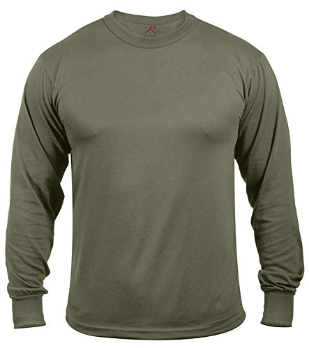 Rothco Moisture Wicking Long Sleeve T-Shirt, 3XL Olive Drab