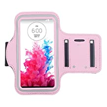 ABC® Sports Gym Armband Arm Band Case Cover for LG G3 D850 D855 VS985 (Pink)