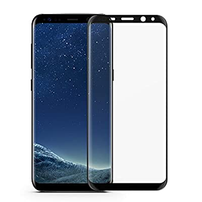 Galaxy S8 Plus Glass Screen Protector, VRURC [Bubble-Free Guarantee] Full Screen 3D Curved Tempered Glass Screen Protector for Samsung Galaxy S8 Plus (Black)