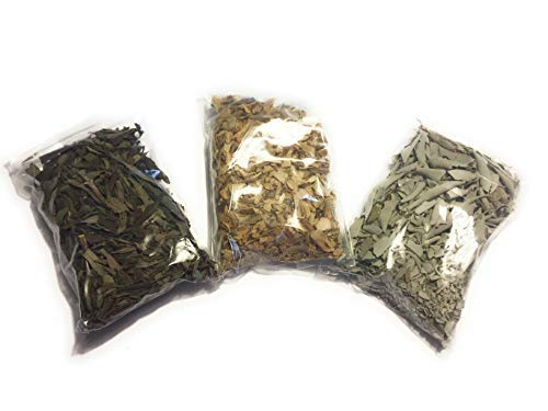 - Loose Leaf Variety Smudge Kit Includes White Sage, Lavender and Palo Santo Flakes