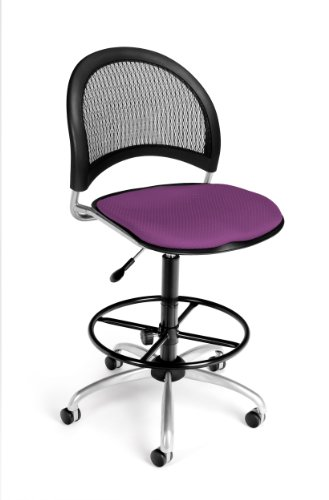 (OFM 336-DK-2214 Moon Swivel Chair with Drafting Kit, Plum)