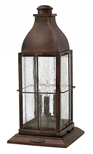 Hinkley 2047SN-LL Bingham Outdoor Flush Mount, 3-Light LED 15 Total Watts, ()