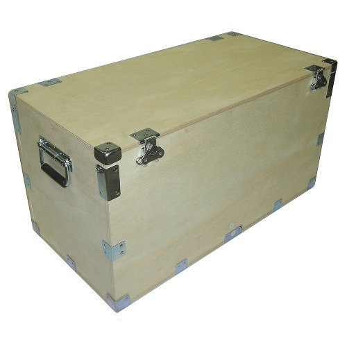 Crate Style 1/2 Inch Bare Wood Cable Trunk Case Extra High   Kit Form    Inside Dimensions 44 X 21 X 25 High