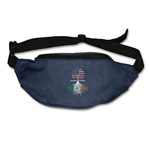 Spanwell Unisex Waist Pack American Irish Tree Flat Fanny Bag Pack For ort Travel