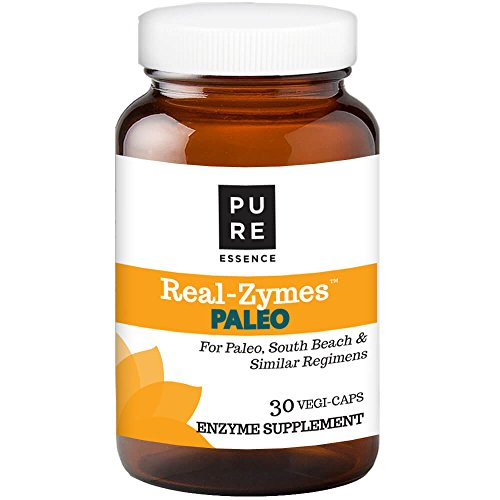 Real-ZymesTM Paleo Digestive Enzymes Supplement with Probiotics for Better Digestion - Natural Support for Relief of Bloating, Gas, Belching, Diarrhea, Constipation, IBS, etc. - 30 Caps