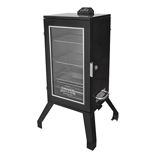 Smoke Hollow 3016DEW 30-Inch Digital Electric Smoker with Window, Black