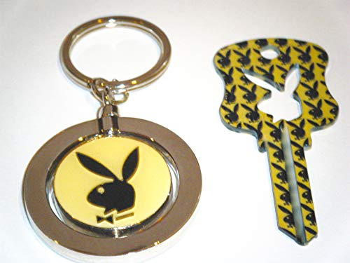 Playboy BUNNY Key Kwikset KW1 Uncut Blank House Key With Playboy Key Chain