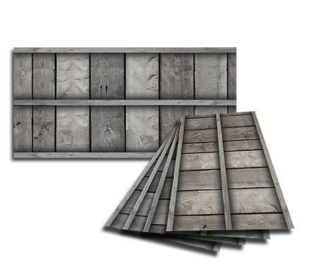 Golden Eagle Decor & Graphics Lot of 6 2x4 Glue Up Ceiling Tile Skin - Gray Framed Barnwood ()