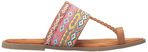 Adela Tan Fabric Webster Women's Sandal Toe Pu Ring Smooth Dog Multi Rocket vnqExTT