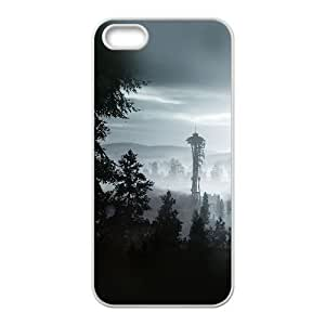 iPhone 4 4s Cell Phone Case White ac73 seattle view day mountain SLI_773571