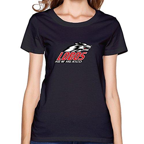 ZOENA Women's T Shirt - University Of New Mexico Lobos Black XL