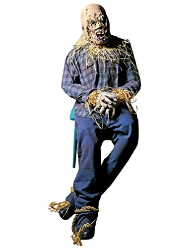 Distortions Unlimited Scary Scarecrow Halloween Prop -