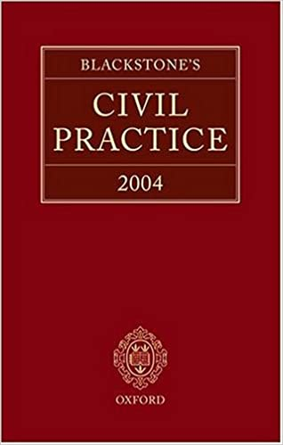 Book Blackstone's Civil Practice 2004