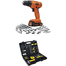 BLACK+DECKER LD120VA 20-Volt MAX Lithium-Ion Drill/Driver with 30 Accessories and Stanley 94-248 65-Piece Homeowner's Tool Kit