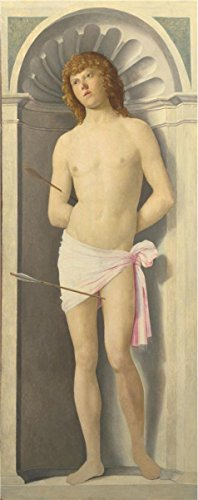 'Giovanni Battista Cima Da Conegliano-Saint Sebastian,1500' Oil Painting, 10x25 Inch / 25x64 Cm ,printed On High Quality Polyster Canvas ,this Cheap But High Quality Art Decorative Art Decorative Canvas Prints (Halloween Worksheets For Fourth Grade)