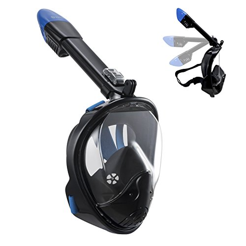 WSTOO 180° Full Face Snorkel Mask Panoramic view snorkel Mask For Adults And Kid With Anti-Fog Anti-Leak Snorkeling Design,See More water world