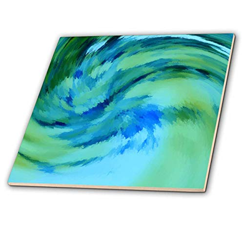 Contemporary Ceramic Tile - 3dRose Lens Art by Florene - Digital Contemporary - Image of Ocean Waves in Abstract - 12 Inch Ceramic Tile (ct_305859_4)