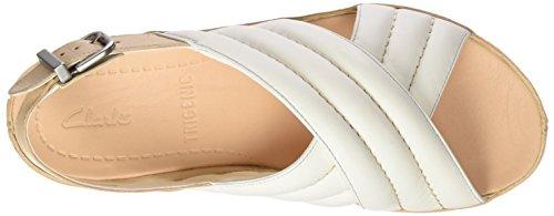 Femmes Sandales Nora Tri Sandales Tri Blanc Cuir Blanc en Clarks U7qOz