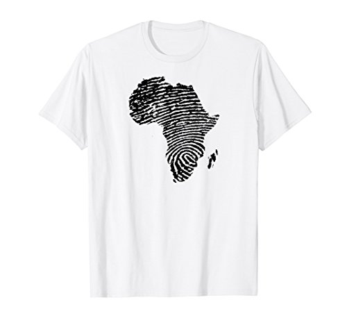 (AFRICA Continent DNA Fingerprint T Shirt African Black Pride )
