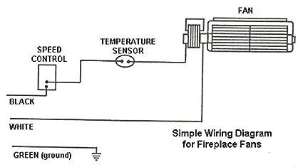 amazon com kingsman fireplace blower z36fk zdv3600 zdv4200n rh amazon com Honeywell Thermostat Wiring Diagram Gas Wall Heater Wiring Diagram