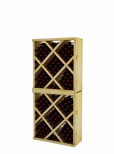 Vintner Series Wine Rack - Diamond Bin with Face Trim - 6 Ft - Pine with Light Stain