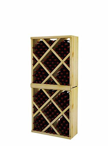 Vintner Series Wine Rack - Diamond Bin with Face Trim - 6 Ft - Pine with Light ()