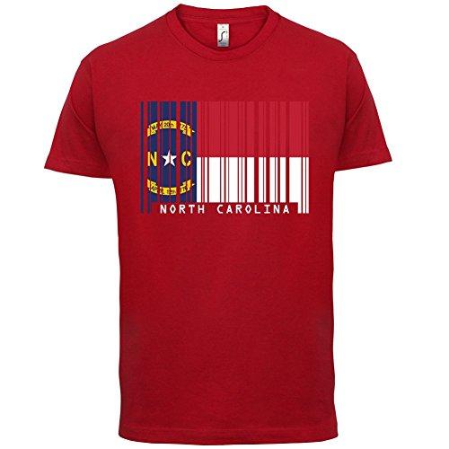 North Carolina / Nord-Carolina Barcode Flagge - Herren T-Shirt - Rot - XXL