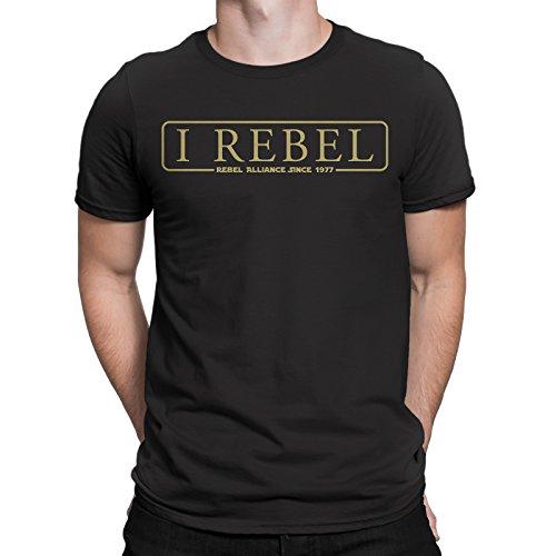 Secret Level I Rebel-T Shirt Mens -Star Wars Inspired Black Rebels Rogue One Jedi (Medium) 1 Vintage Inspired Tee