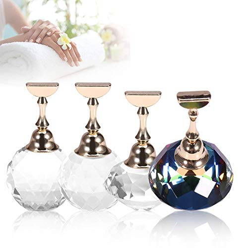 Nail Tips Stand Holder, Magnetic Alloy Nail Art Display Tip Holder for Salon DIY and Practice Manicure (4Pcs)