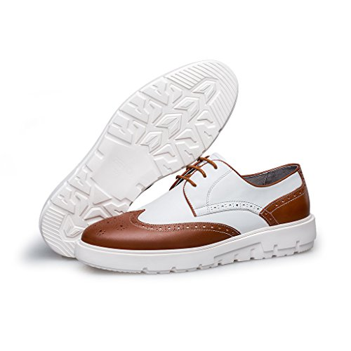 ZRO Men's Fashion Lace Up Athletic Training Casual Sneaker Brown udHm6mPZ