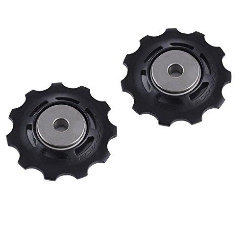 (Shimano RD-9000 Dura Ace 11 Speed Gear Pulleys/Jockey Wheels-Black)