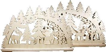 zum Auss/ägen und Laubs/ägen // zum selber basteln Laubs/äge Schwibbogen incl alles-meine.de GmbH XL Holz Bastelset 3-D Altseiffen Bausatz Echt Erzgebi.. Beleuchtung !