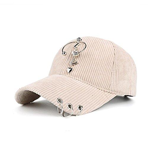 (Smdoxi Womens Hat Baseball Cap Unconstructed Polo Style Adjustable Corduroy Baseball Cap (Beige))